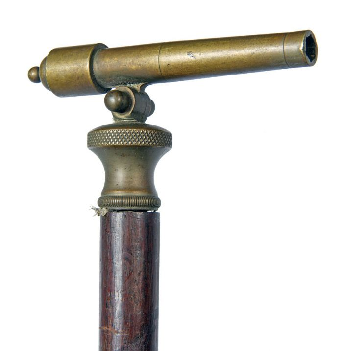 A Philadelphia Antique Curiosity Gun , Sword, and Cane Curiosa  Collection Estate Auction  - cannon_cane.jpg