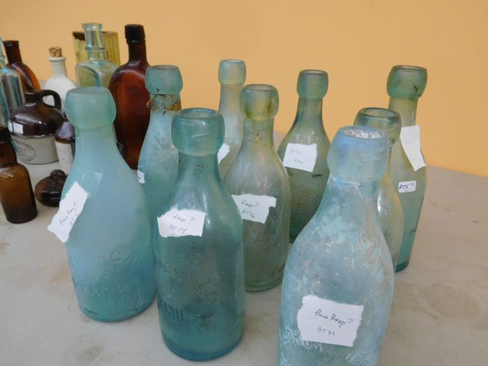 Ralph Van Brocklin Estate- Bottles- Post and Trade cards--Mini Jugs and other advertising - DSCN9642.JPG