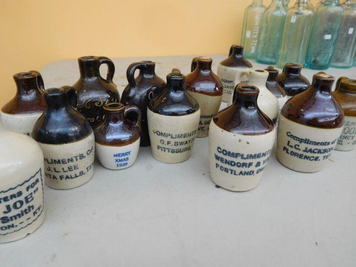 Ralph Van Brocklin Estate- Bottles- Post and Trade cards--Mini Jugs and other advertising - DSCN9664.JPG